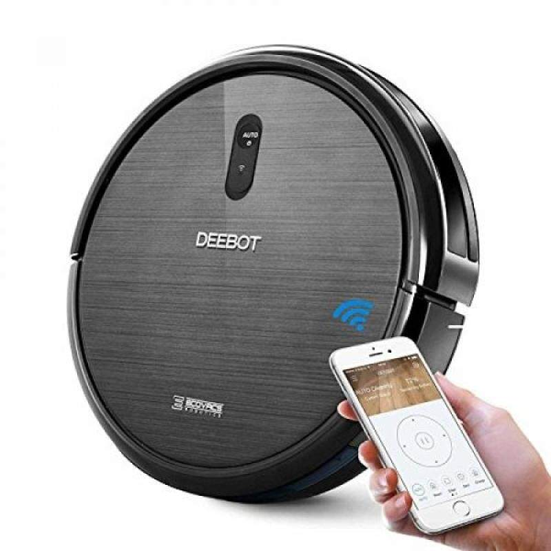 ECOVACS DEEBOT N79 Robotic Vacuum Cleaner, Strong Suction, for Low-pile Carpet, Hard floor, Wi-Fi Connected - intl Singapore