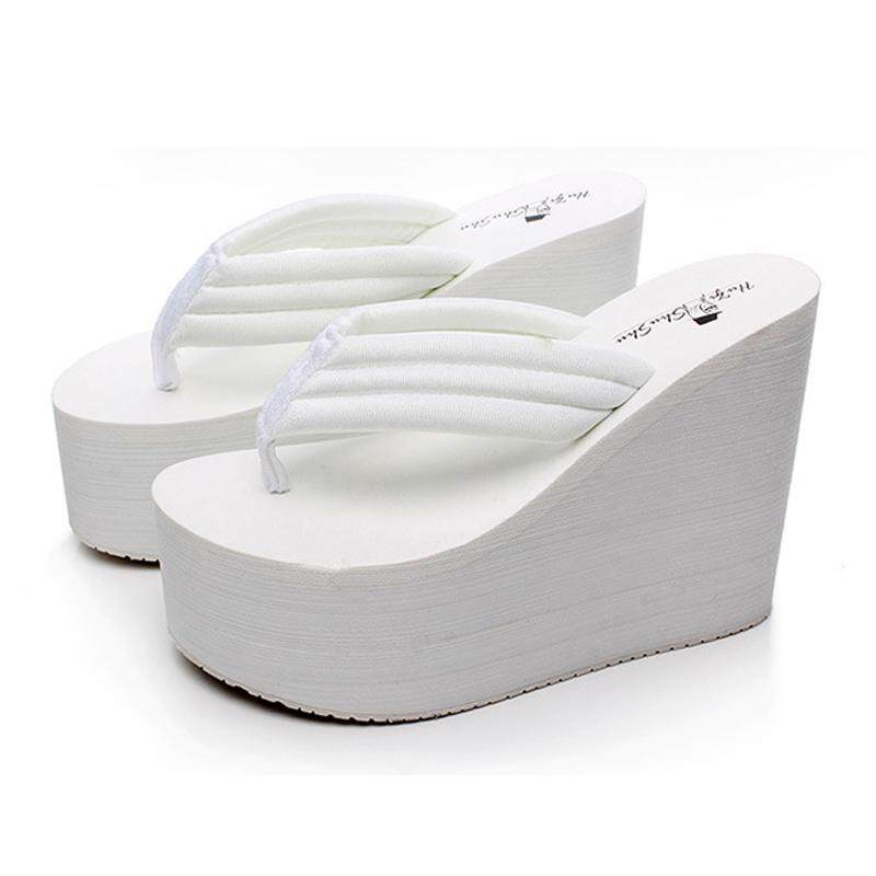 92423b9f10e TLL Women Extremely High Heel Flip Flop Casual Flat Sandals Wedge Sandals -  intl Singapore