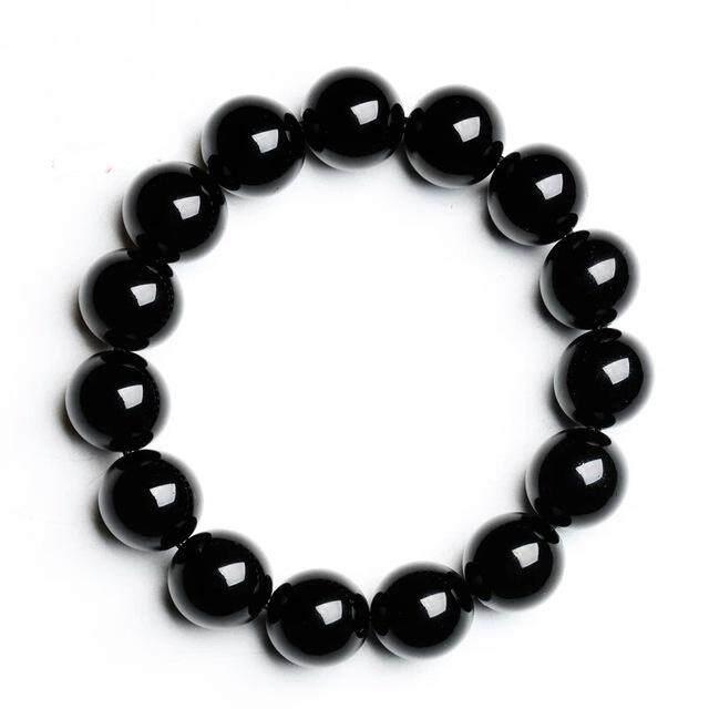 Dan Mode Untuk Wanita Gelang Obsidian Alam Nyata Perhiasan Gelang Elastis By Carving Life