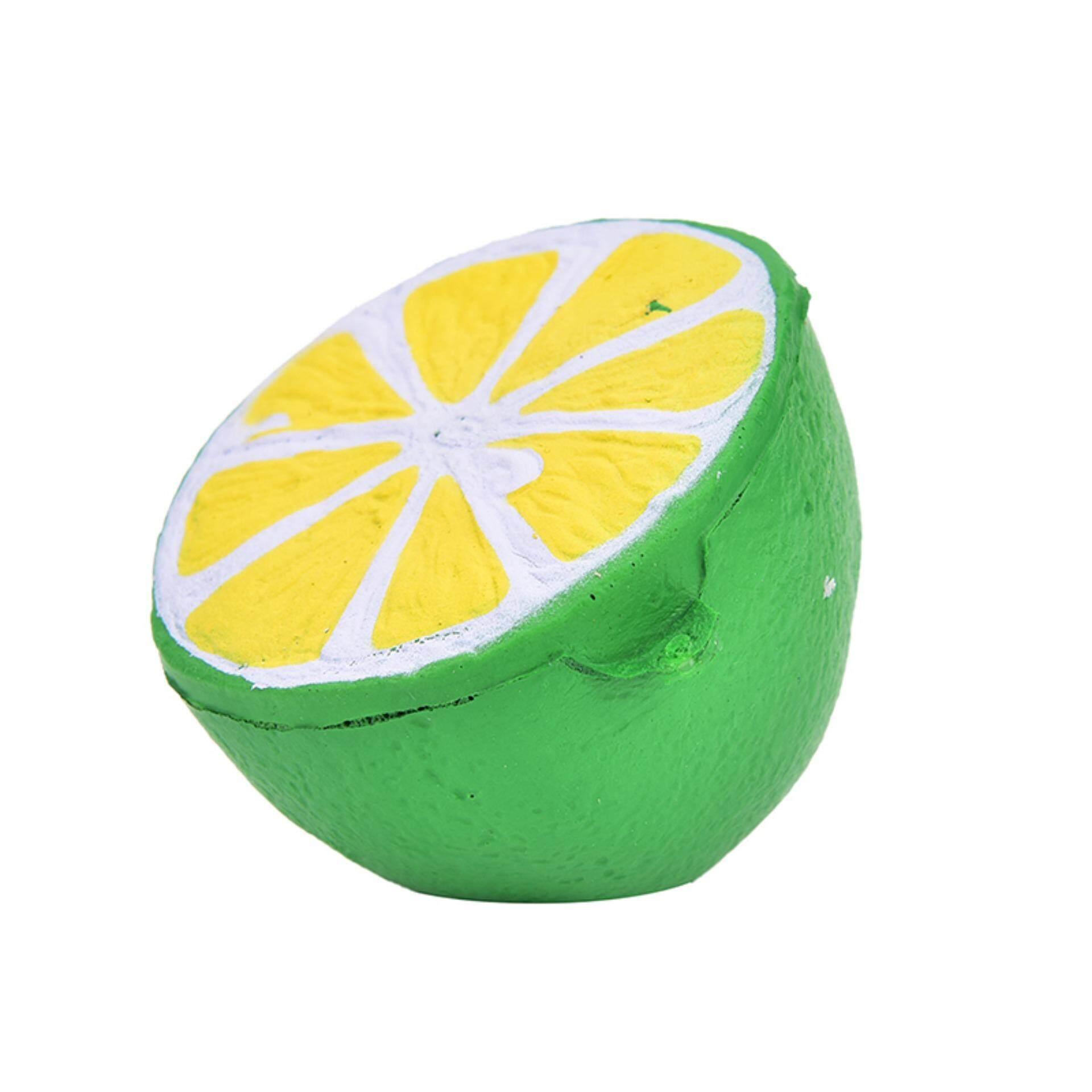 Squishy Jumbo Half Lemon Fruit Scented Super Slow Rising Keyring Kid Fun Toy Green - intl