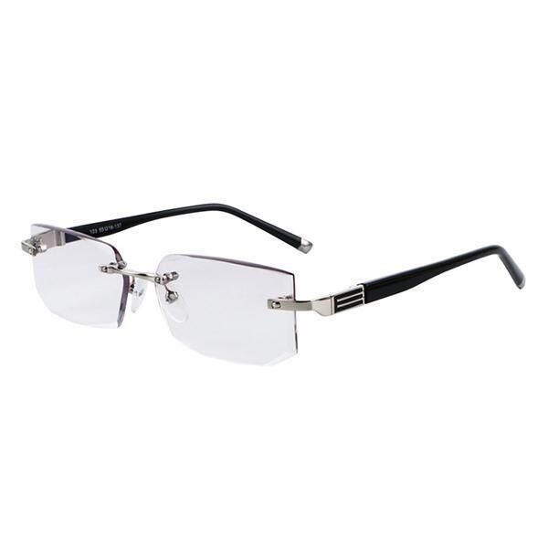 200 Derajat Pria Antifatigue Persegi Panjang Tanpa Bingkai Ringan Pembaca Membaca  Kacamata Tanpa Bingkai Presbyopic Kacamata 5aa7e795a4