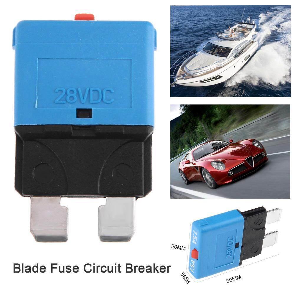 Fitur Portable Dc28v 15a Manual Reset Circuit Breaker Blade Fuse For Automotive Detail Gambar Car Truck Boat Marine Intl Terbaru
