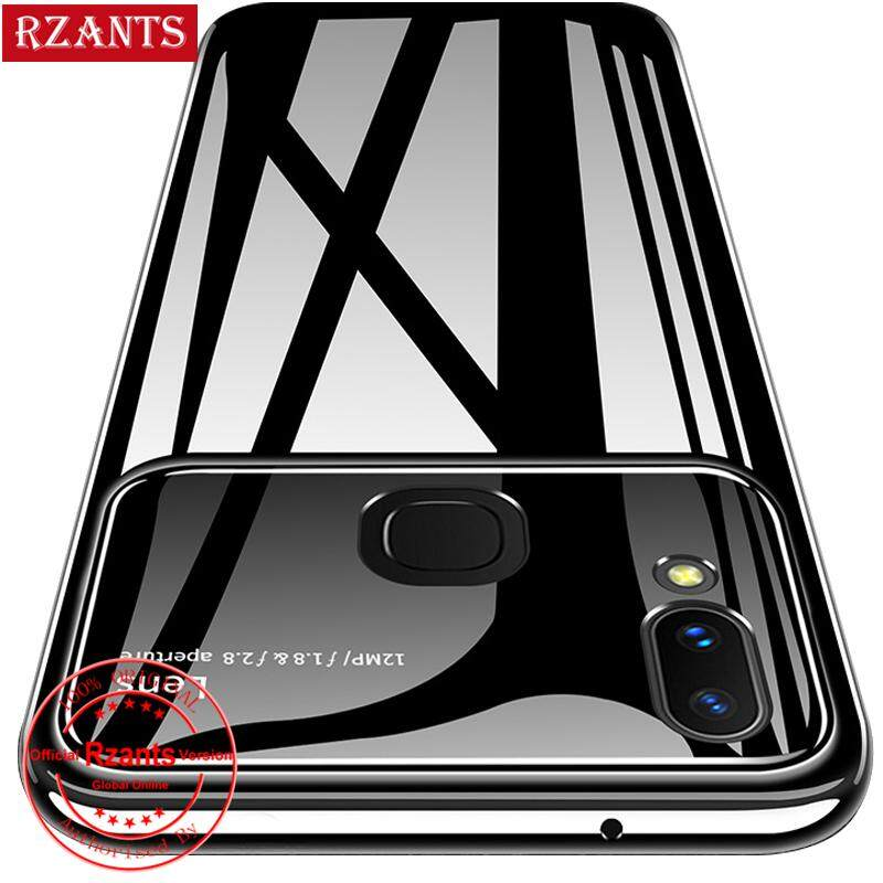 Rzants untuk VIVO V9 Casing【Lens】Hybrid Glass Protective Clear Ultra-thin light Hard Back Cover