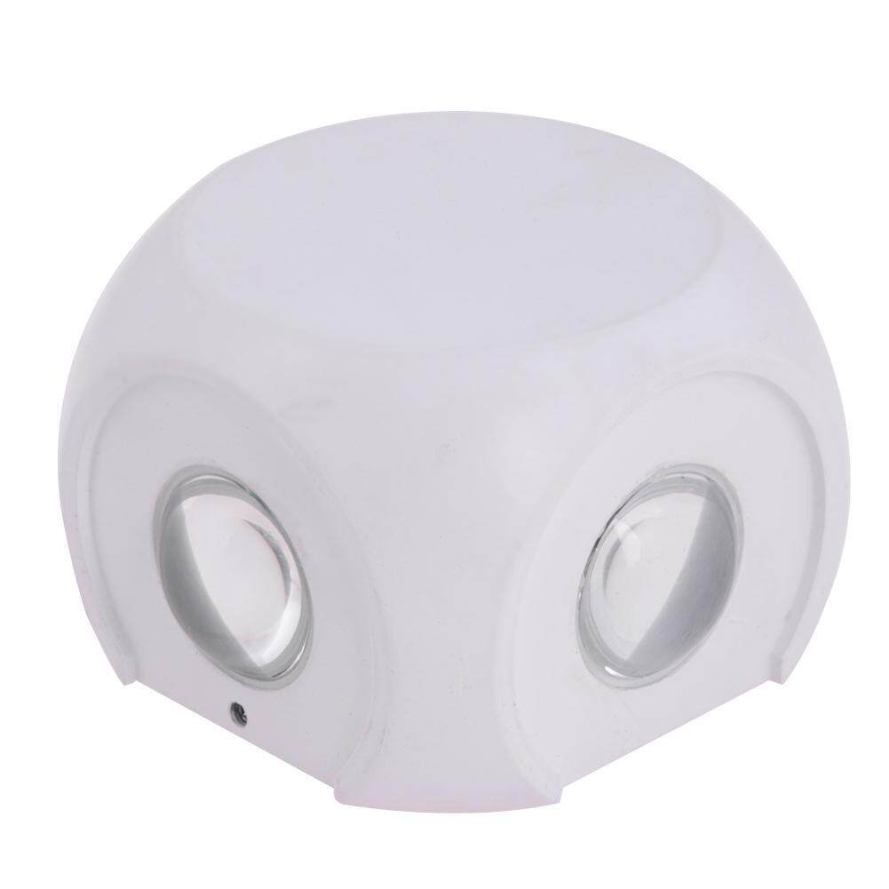 LED Wall Lamps with Switch Button 4W 85-265V AC Bedroom Lighting(Off White)-B - intl