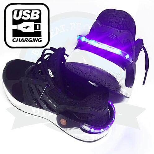 [BEST SELLER][Local Delivery] Micro USB LED Shoe clip Visible Safety for Running,Cycling in Dark, Long lasting