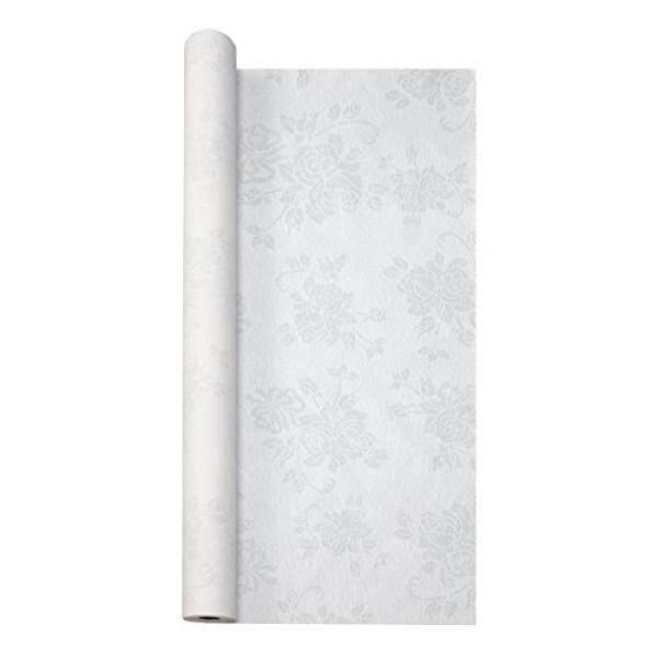 Hoffmaster 260046 Linen-Like Tablecover Roll, 100 Length x 40 Width, Silver Prestige