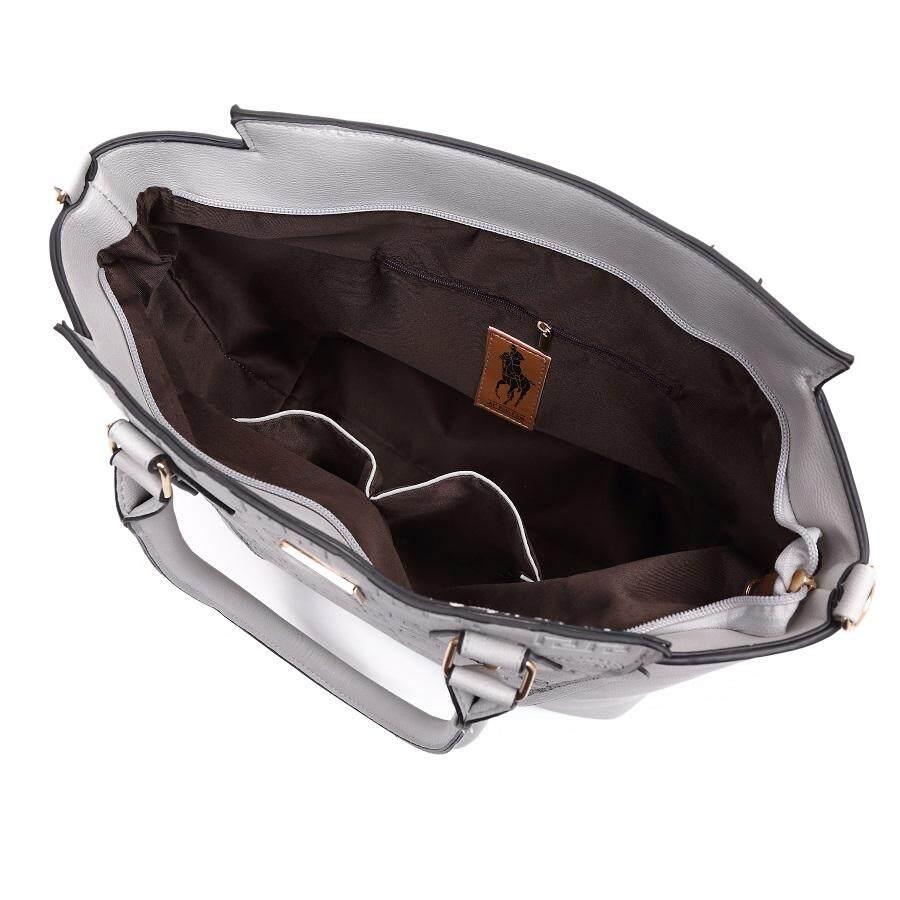 Angel Court Shoulder/Crossbody Handbag-ACP67-1931/Light grey