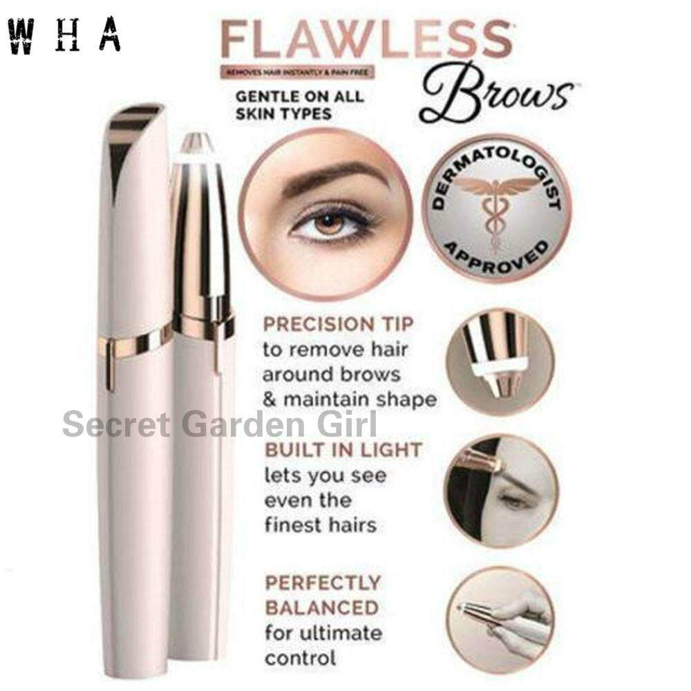 SGG Flawless Brows Electric Finishing Touch Eyebrow Remover Shaver Painless Personal Face Care Flawles-s