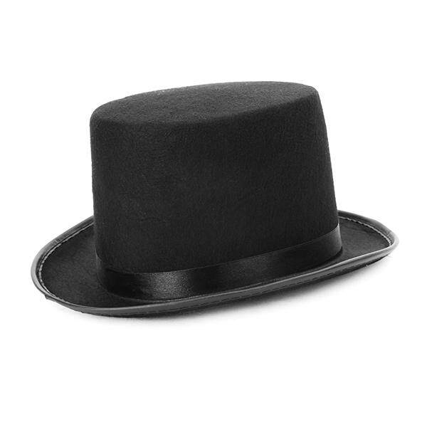 Cool Black Magician Hat Jazz Hat Trilby Party Dance Proformance Prop Topper 2ffb4e04a97a