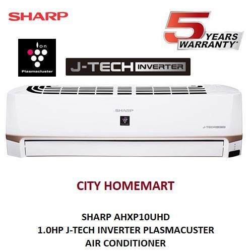 SHARP AHXP10UHD - 1.0HP J-TECH INVERTER + PLASMACUSTER AIR CONDITIONER