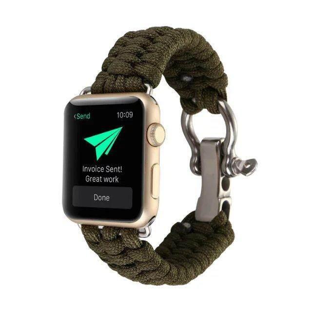 Untuk Apple Watch Series 3/2/1 38 Mm Paracord Tali Jam Pergelangan Tangan