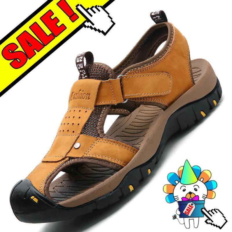 Yealon Kulit Asli Sandal Naik Gunung Sepatu Krasovki Tahan Air Sepatu Musim  Panas Pria Olahraga Melakukan 2c5819628b