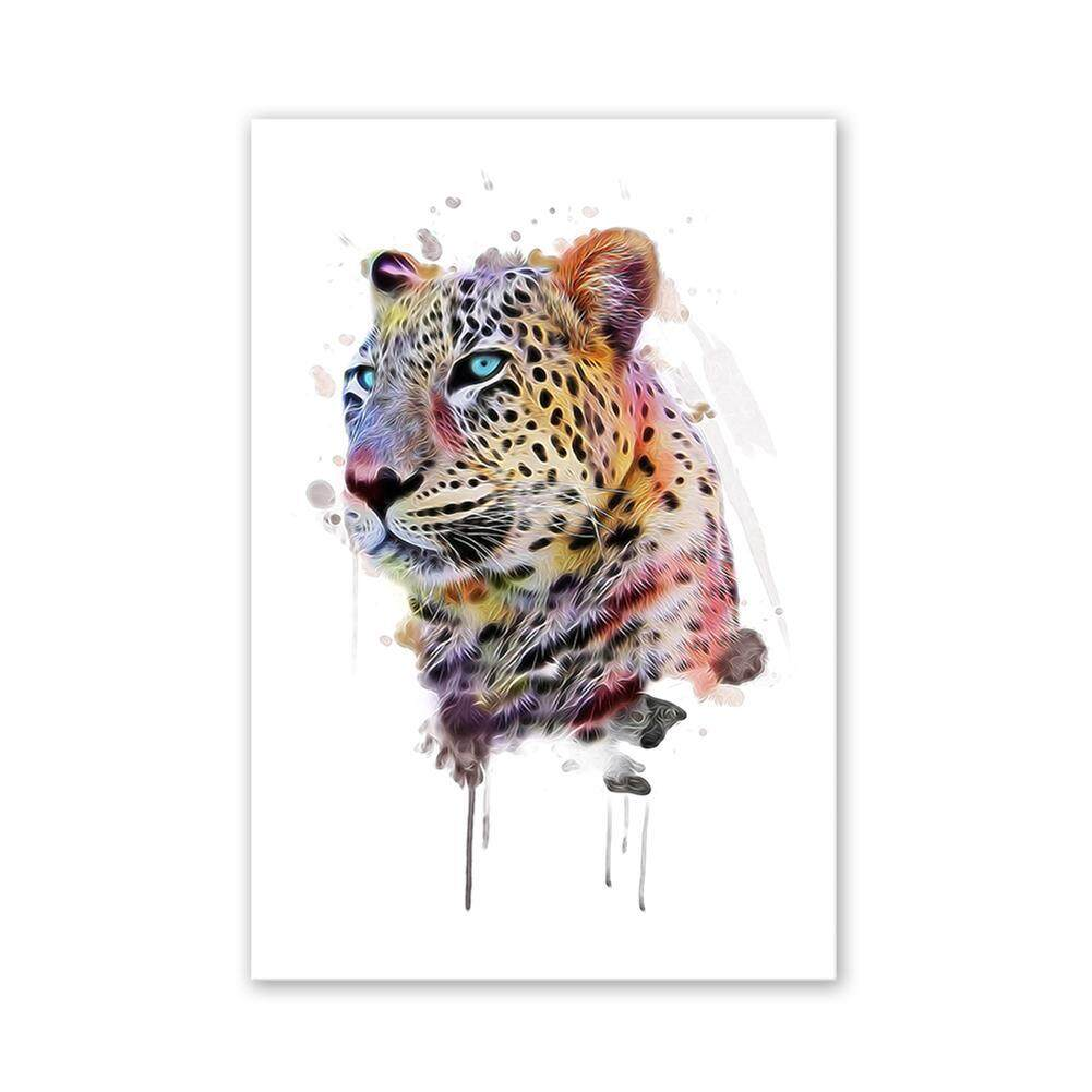 Frameless Leopard Oil Painting By Numbers Abstract Pictures Home Wall Decor(multicolor)-S.