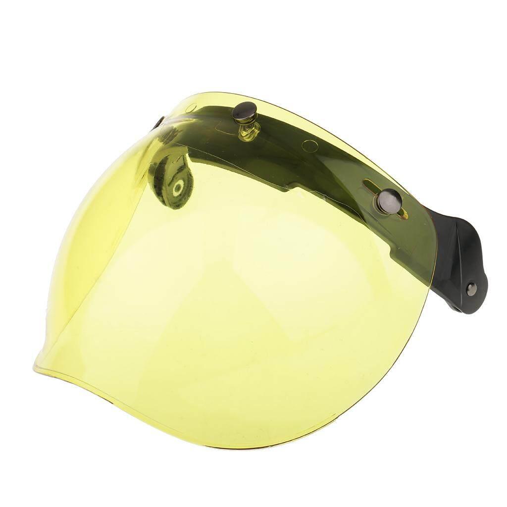 Miracle Bersinar Motor 3 Tempatkan Helm Kedok Perisai Lipat Hingga Down Lensa untuk Harley Kuning-