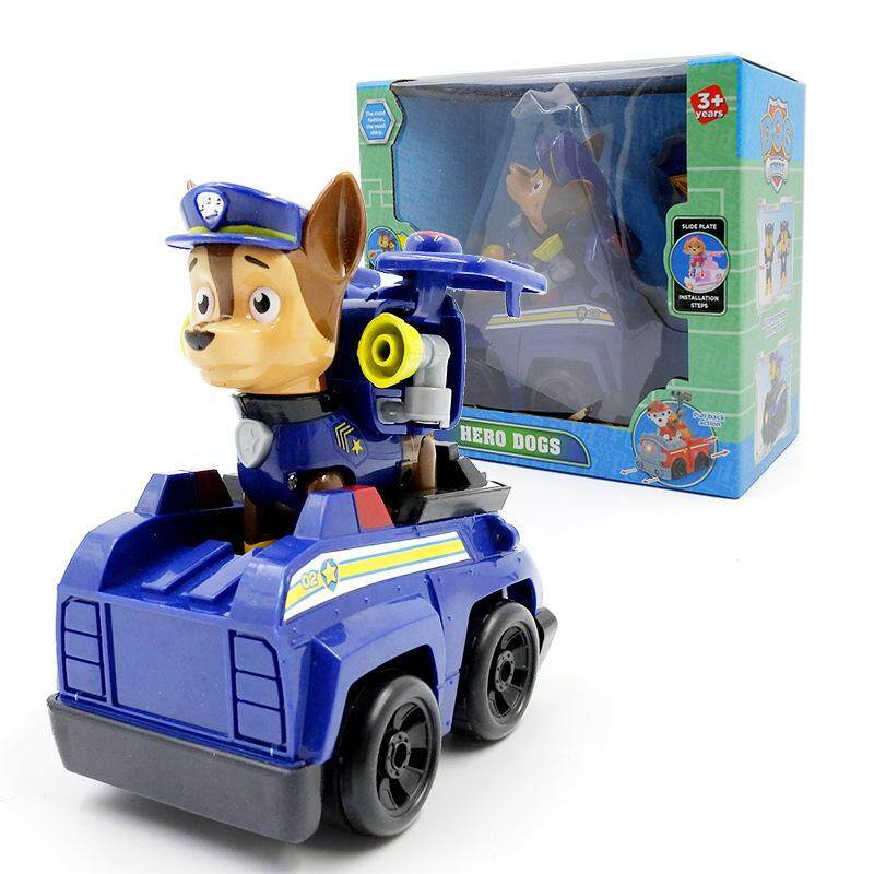 6PCS SET PAW Patrol Deformed dog Patrol car Action Figures One key  deformation with car 64d000bef