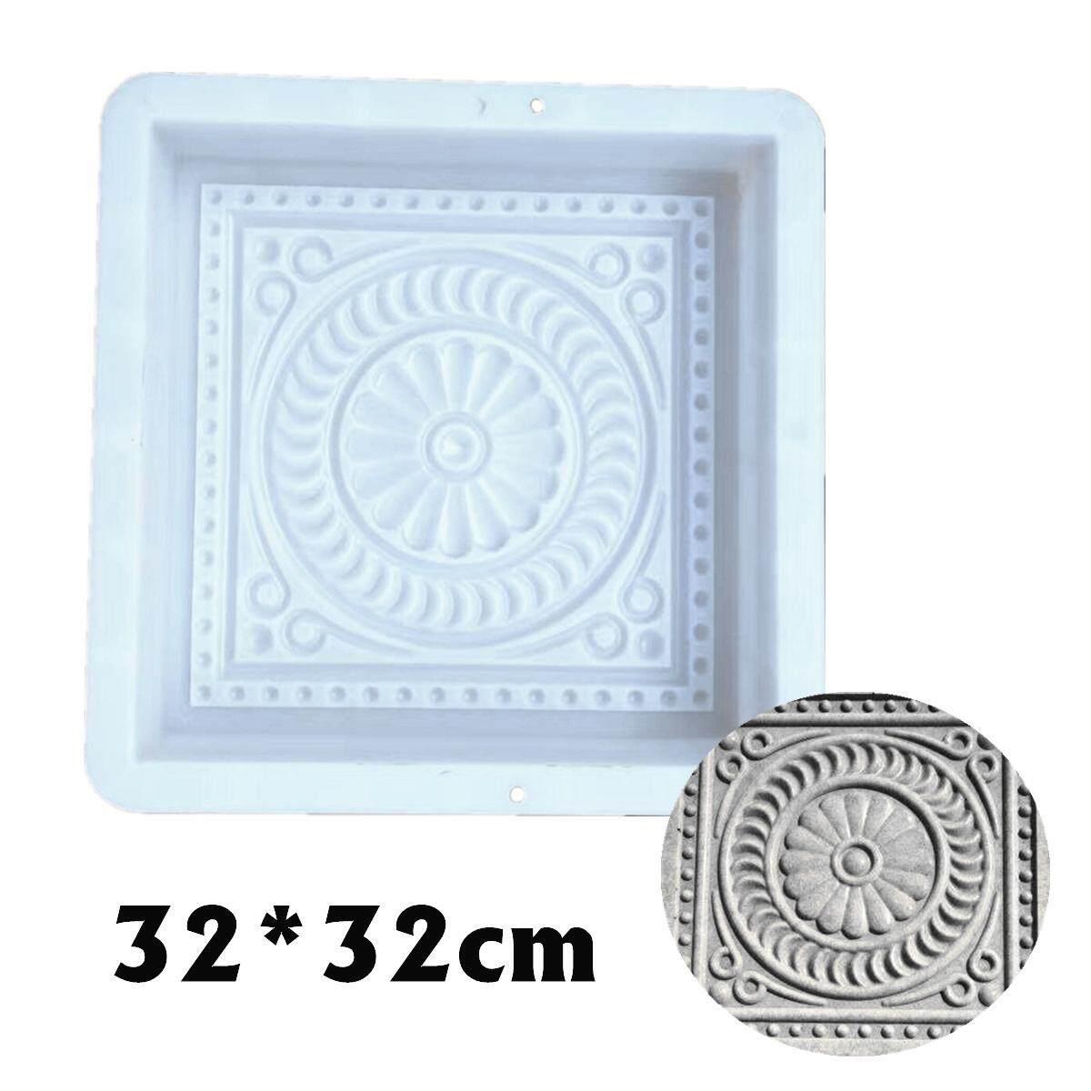 32*32 cm DIY Nhựa Vuông Con Đường Làm Khuôn Đường Lát Đá Xi Măng Khuôn Mẫu Gạch