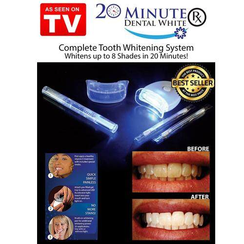White Light Teeth Whitening Gel Super Bright System Oral Dental Care