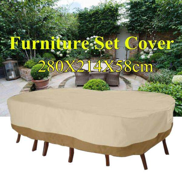 (photo)Large Patio Garden Rectangular Oval Table Chair Cover Outdoor Furniture Winter