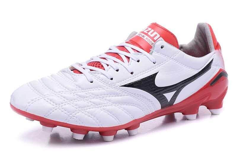 Football Mizuno Morelia Neo Mix FG Football Shoes Men's Mozuno Wave Ignitus 4MD FG Soccer Cleats White/Red/Black - intl