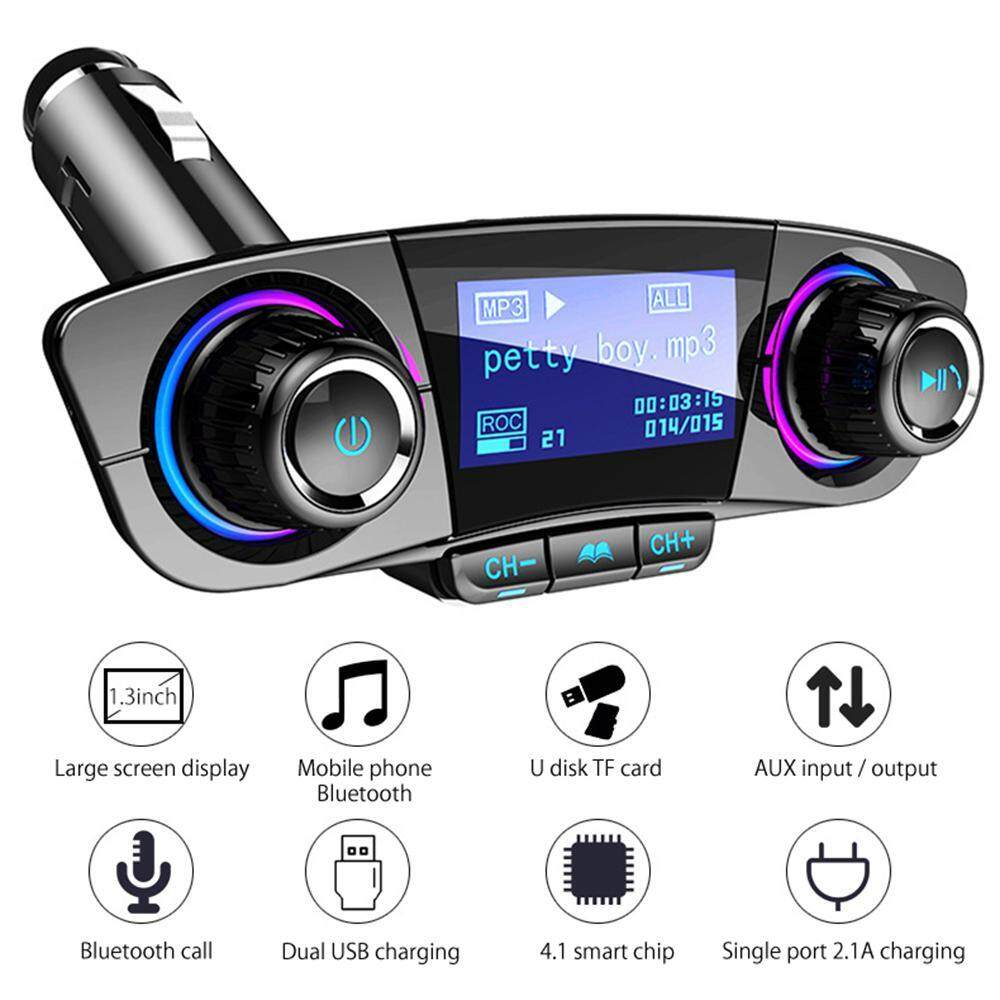 Car Audio Buy At Best Price In Malaysia Jl 500 1 Wiring Niceeshop Bluetooth Kit Handsfree Fm Transmitter Wireless A2dp Aux Mp3 Player Support U