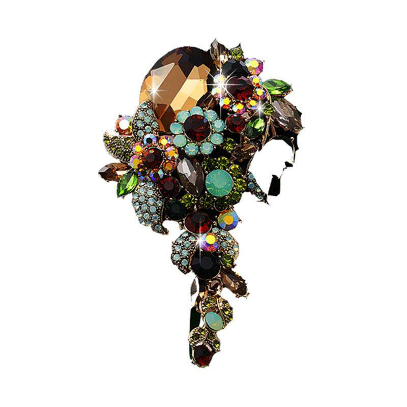 2018 Fashion Ladies Antique Brooch Bijoux Retro Colorful Plant Flower Brooches Lapel Pin Jewelry Gift - intl