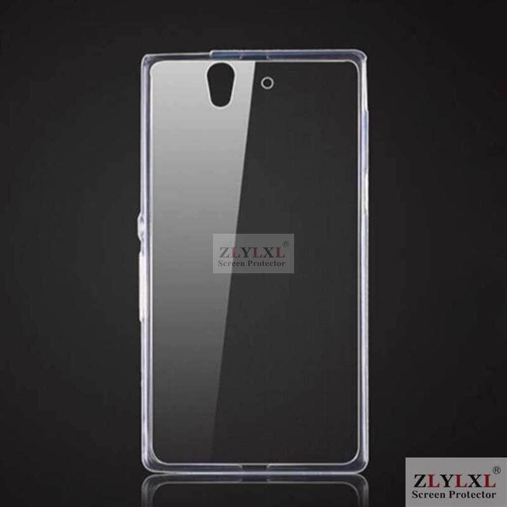 Soft transparent TPU silicone phone bag back cover case for Sony Xperia Z