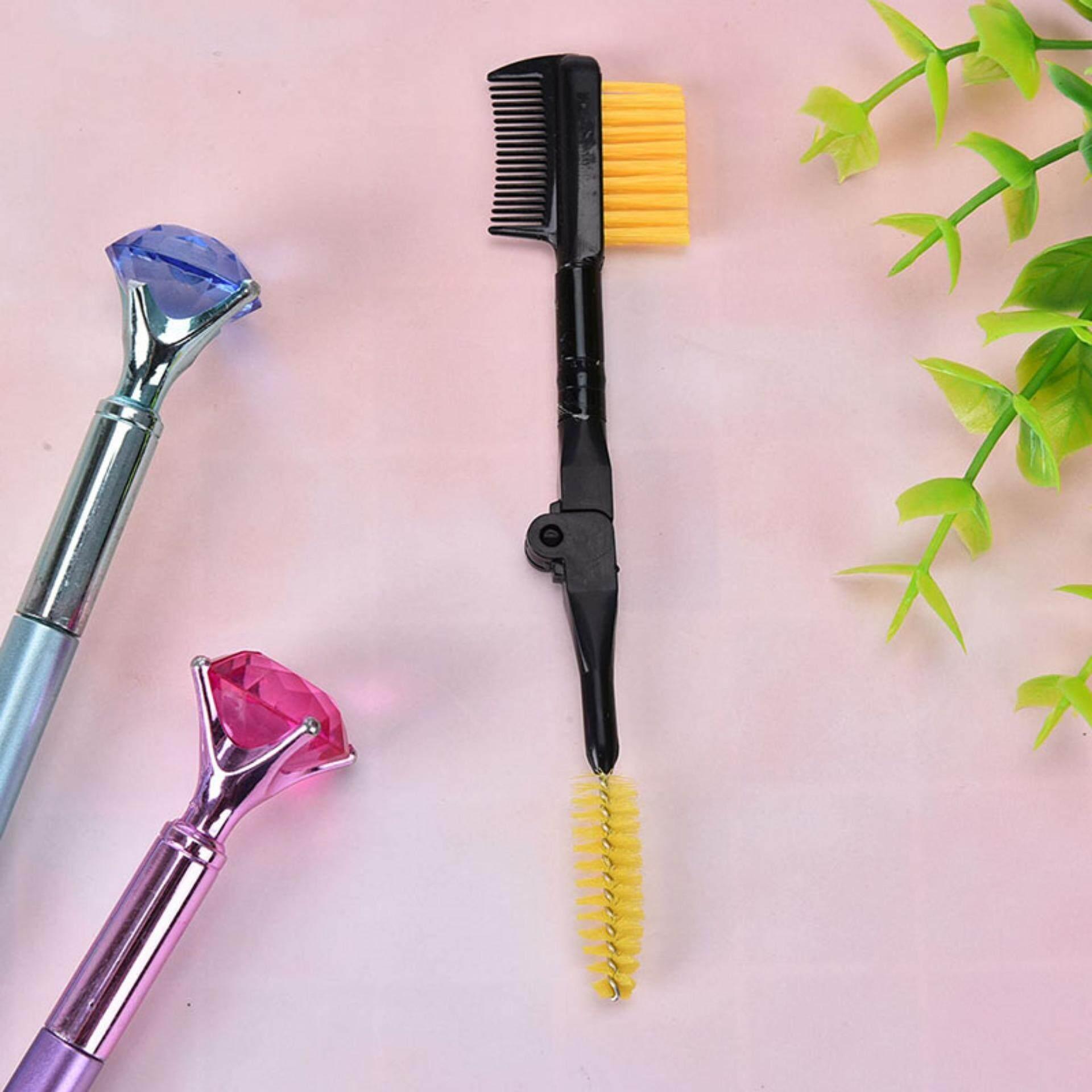 Ekstensi Bulu Mata Sikat Sisir Bulu Mata Alis Kosmetik Makeup Supply untuk Wanita