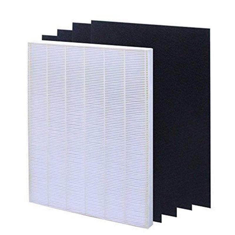 Shuaicai Lọc Không Khí Phần Tử Cho BỘ LỌC Không Khí ĐẠT CHUẨN HEPA Lọc Màn Hình + 4 Thay Thế Than hoạt tính Lọc Winix 115115 Màu Sắc: trắng