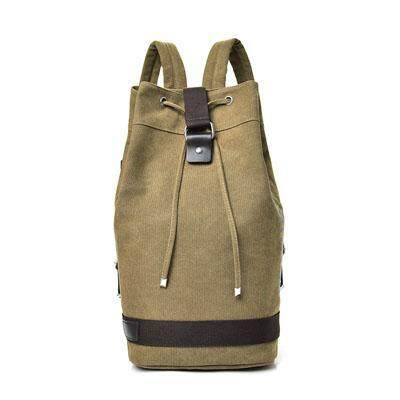 Mens Bucket Drum Backpack Large Capacity Travel Luggage Outdoor Hiking Bag