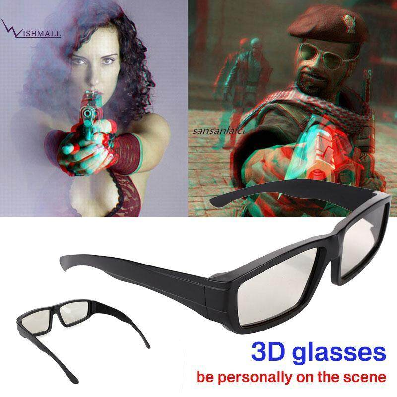 0a7819dcdb5 Wishmall Circular Polarized Glasses 3D Glasses 3D Eyeglasses 3D Round  Portable