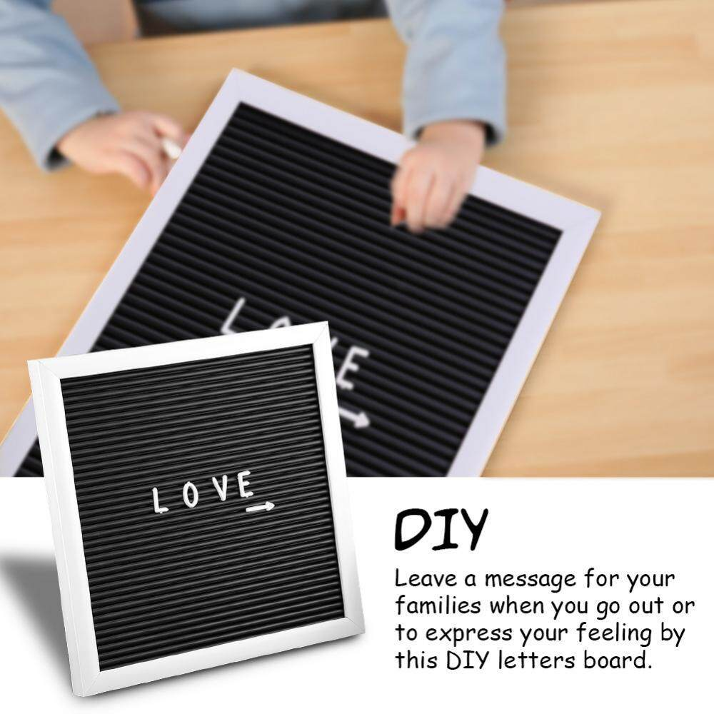 25cm*25cm Message Felt Letter Board Sign Changeable Letters Numbers Room Decor (White Frame) - intl