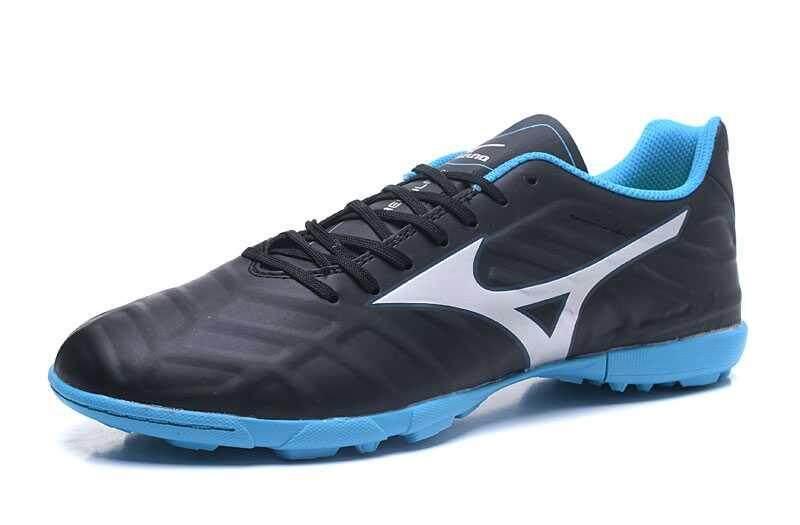 Football Mizuno Rebula V1 DF TF Football Shoes Men's Mizuno Rebula V1 Made in JP MD Soccer Cleats Black/Blue/Silver - intl