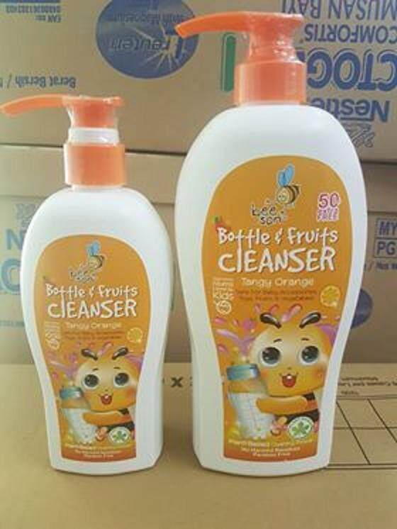 BEESON Bottle and Fruits Cleanser (Orange) 400ml