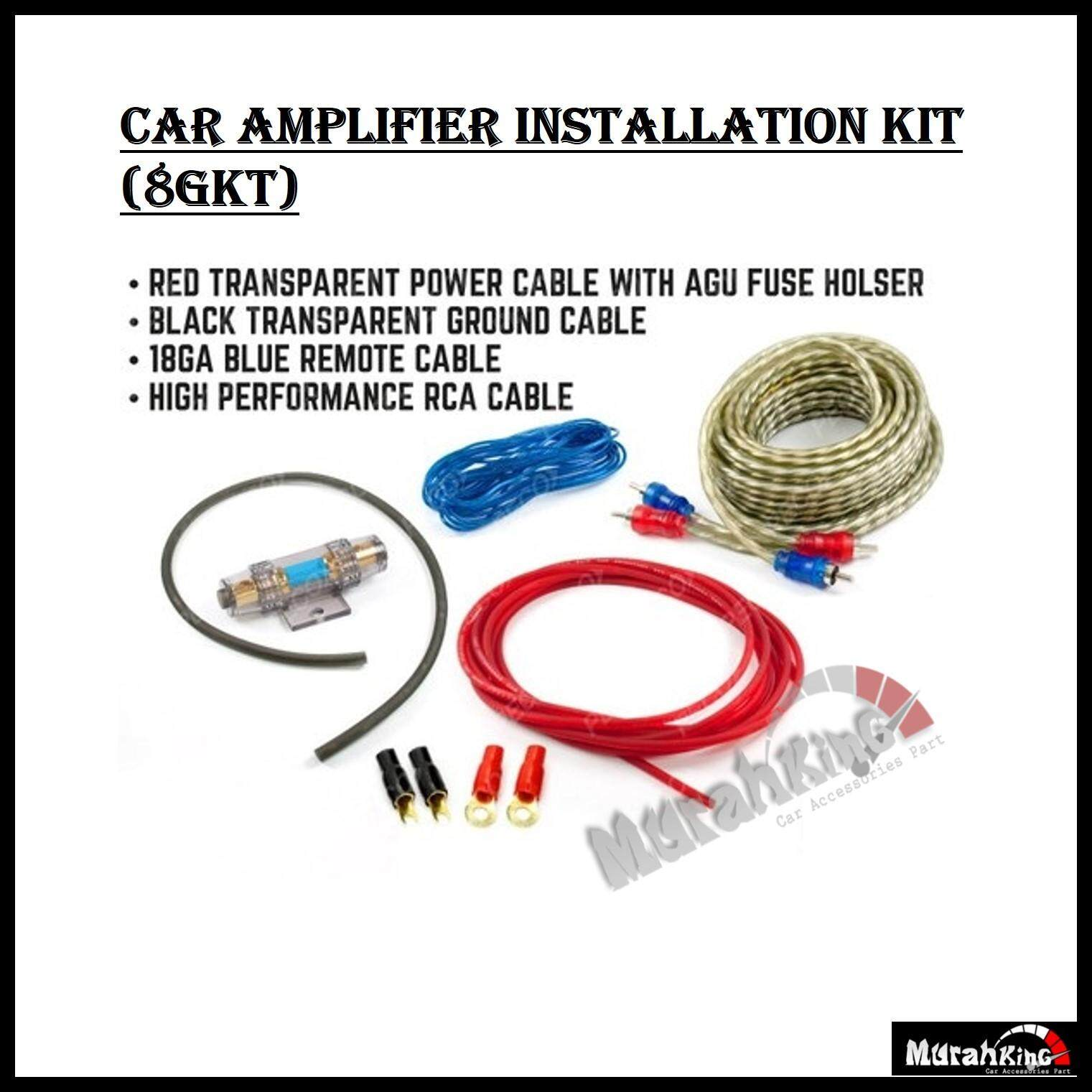 Features Car Audio Subwoofer Amplifier Amp Wiring Fuse Holder Wire Cable Kit