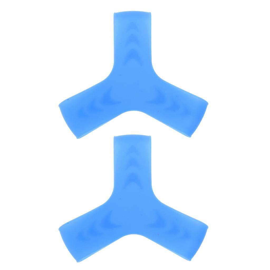 Miracle Shining 1 Pair Swimming Snorkeling Scuba Diving Fin Keepers Grippers Straps S blue - intl