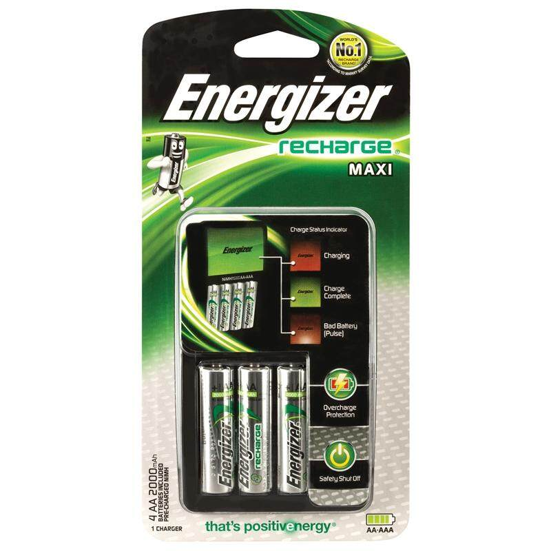 Energizer MAXI Charger with 4pcs AA 2000mAh Batteries - CHVCM4 Malaysia