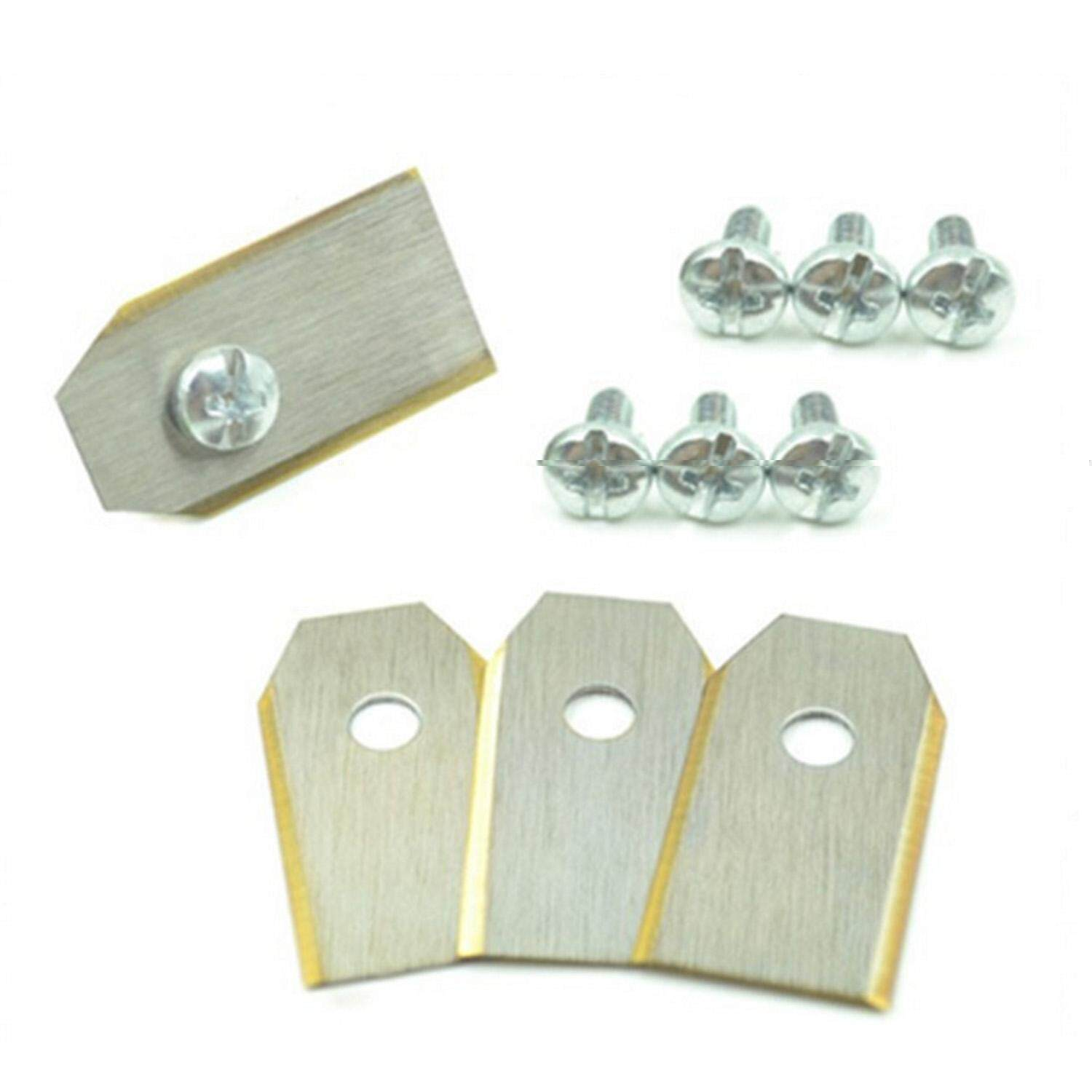 30pcs Anti Rust Stainless Steel Garden Mower Replacement Blade with Screws for Husqvarna Automower Silver