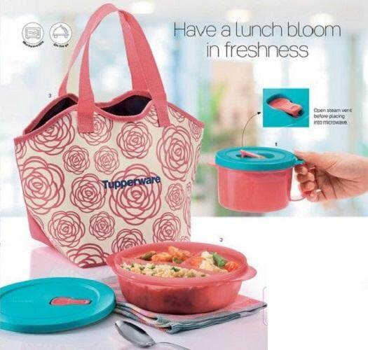 Tupperware Roza Lunch Set with Pouch