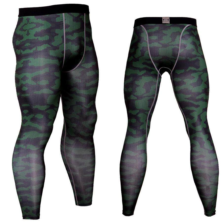 Outdoor Running Camouflage Quick-Drying Pants, Elastic Riding Moisture Wicking Fitness Pants Male By Elephant Trade.