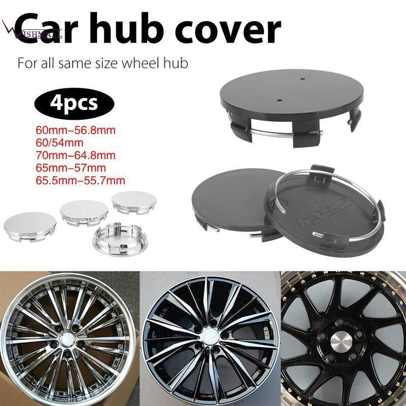 Wishmall Wheel Hub Cover Car Wheel Cover Wheel Center Cap Hub Cap Black 4Pcs ed83521a8e2