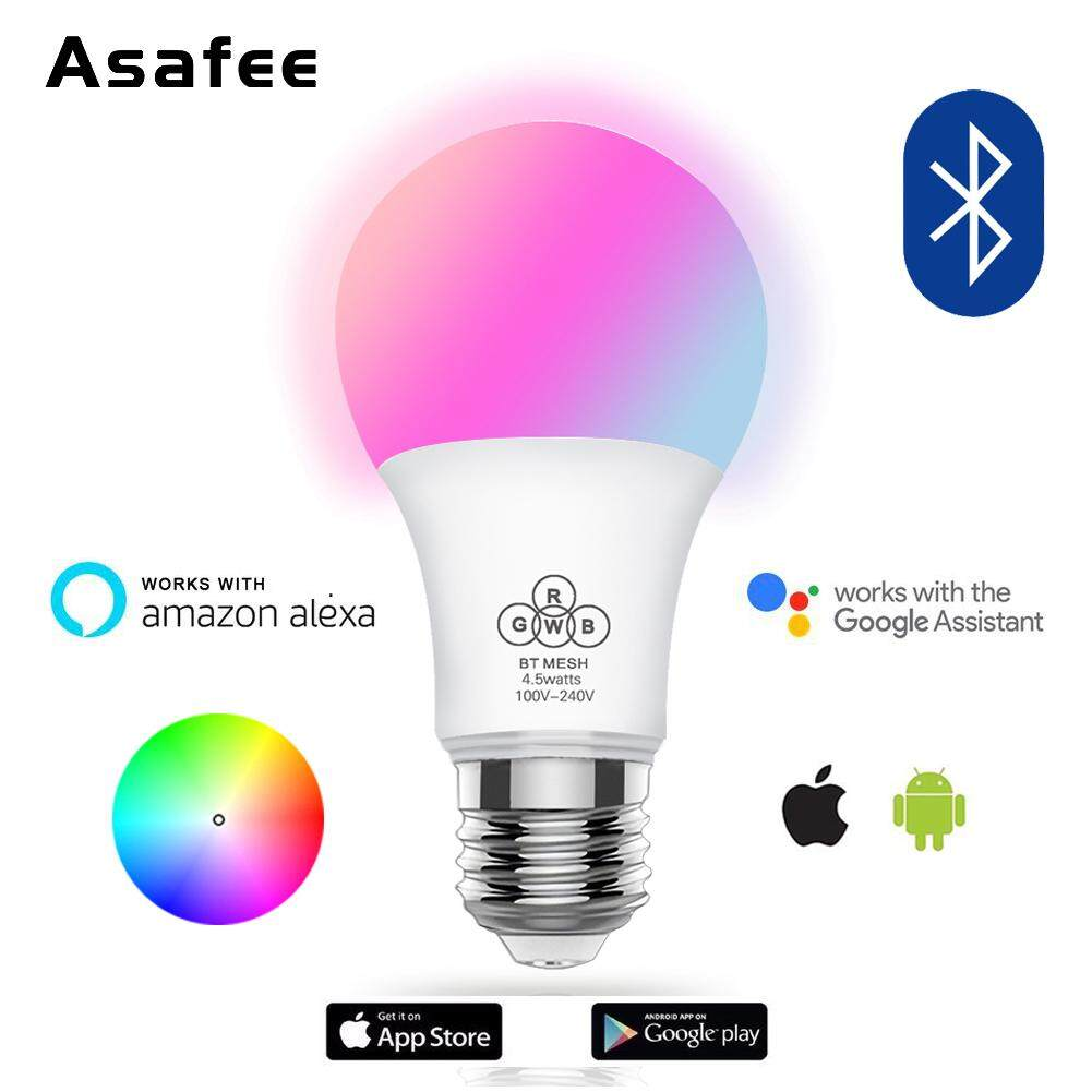 2018 Mesh Bluetooth 4.5W E27 RGBW led light bulb Bluetooth 4.0 smart lighting lamp color change dimmable AC100-240V for party