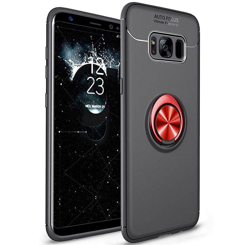 For Samsung Galaxy S8 Case, Luxury Colorful Metal Magnetic Ring Soft Silicone Cover Phone Casing.