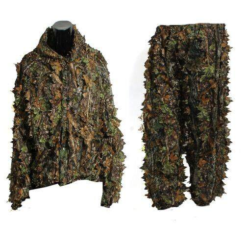 3d Leaf Adults Ghillie Suit Woodland Camo/camouflage Hunting Deer Stalking In - Intl.