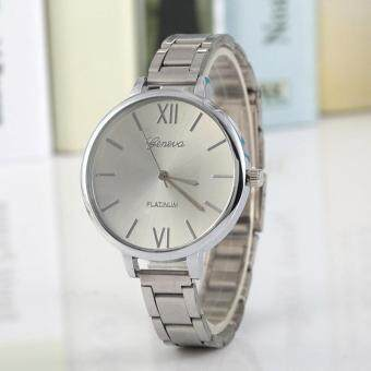 Pencarian Termurah DE Casual Women Men Analog Quartz Watch Stainless Steel Strap Band Wristwatch harga penawaran - Hanya Rp38.634