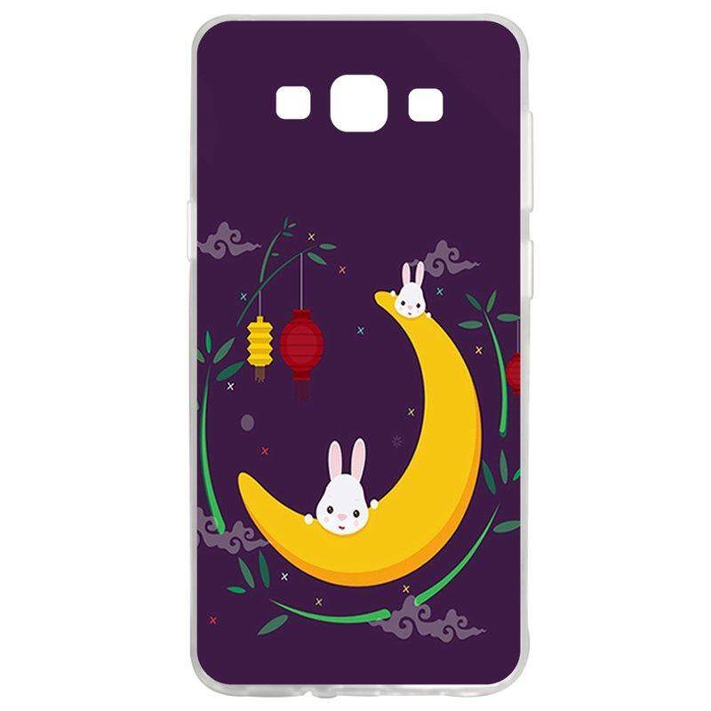 Moon Rabbit TPU Soft Silicon Phone Case Cover For Samsung Galaxy A7 2015