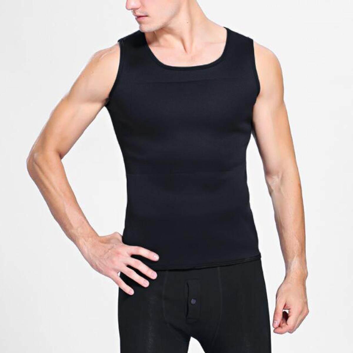 f68b3f75489 ... Neoprene Body Shaper Men Slimming Vest Thermo Sweat Sauna Waist Trainer  Belt L - intl ...