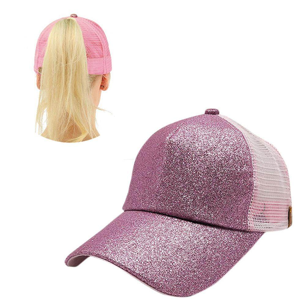 Aolvo Ponytail Baseball Hat, Sequins Shiny Adjustable Cotton Classic Sports Hat ,summer Sun Cap For Women Adult - Intl By Aolvo.