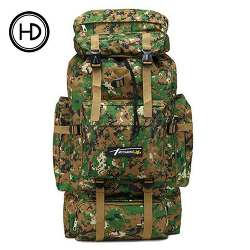 70l Tactical Outdoor Mountaineering Bag Camouflage Tactical Backpack Ultra-Large Capacity Travel Rucksack By Elephant Trade.