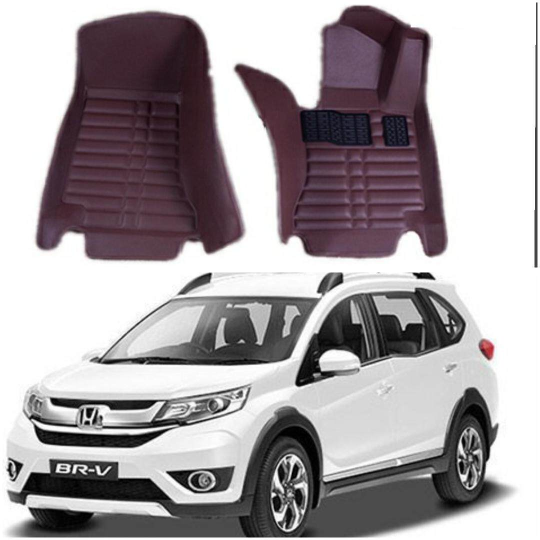 READY STOCK HONDA BRV CAR FLOOR MAT WATERPROOF (FULL SET LEATHER)