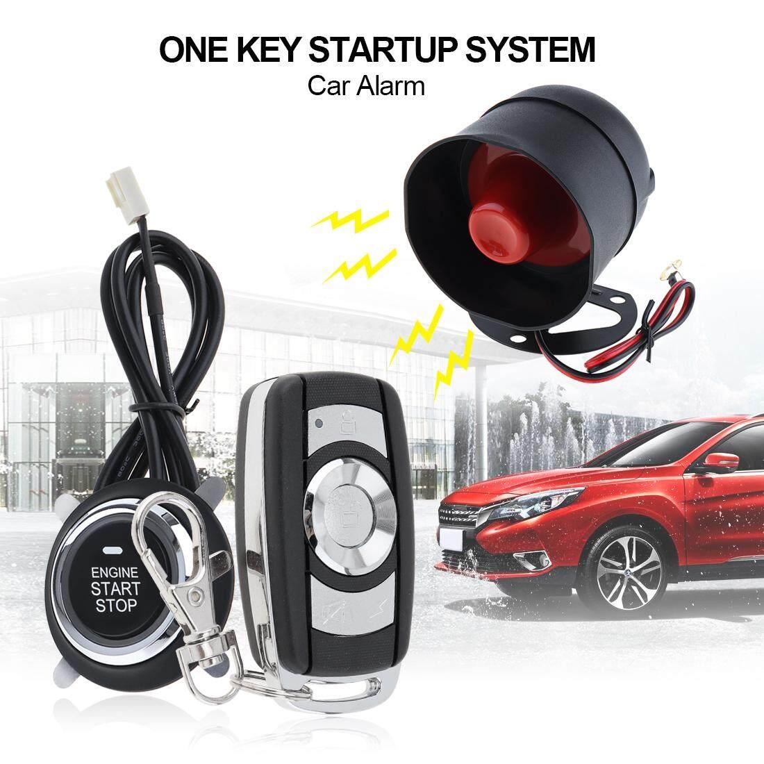 Sistem Alarm Aksesori Paket Centra Lock Full Set Central Pintu Mobil Universal Car System Remote Start Stop Engine With Auto And Keyless Entry